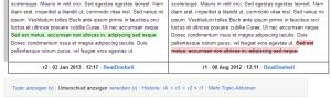 Abbildung 6: Versionsvergleich in einem klassischen Wiki
